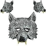 OHQ Halloween Wolf Head Mask para El Disfraz De Disfraces De Fiesta De Disfraces Navidad Cosplay Grimace Festival