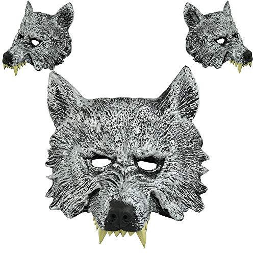 QHJ Halloween Kostüm Party Maske Halloween Wolf Kopf Maske für das Maskerade Party Kostüm Helloween Kostüm Party - Alte Dame Wolf Kostüm