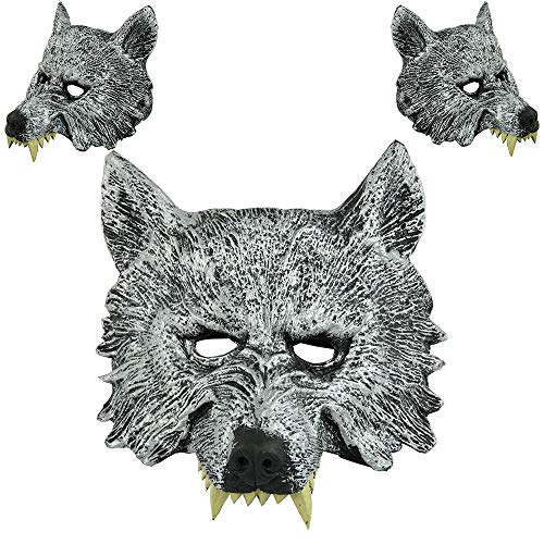 Alte Dame Wolf Kostüm - QHJ Halloween Kostüm Party Maske Halloween