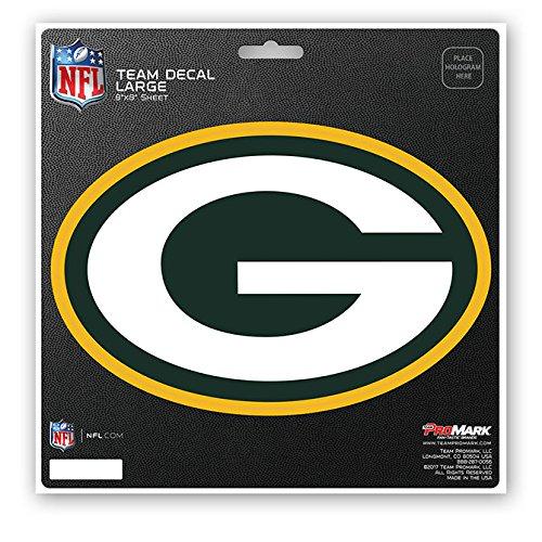 bbf214e89eb ProMark Green Bay Packers Decal 8x8 Die Cut Team Color