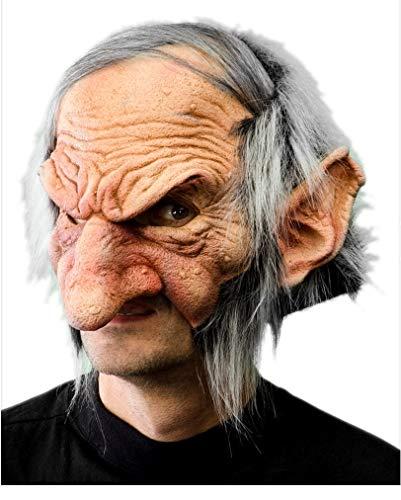 Horror-Shop Kobold Maske mit Haaren