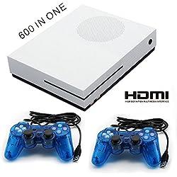 QUMOX 64 Bits 4Go Console de Jeu HD-HDMI TV Console de Jeu intégré 600 Jeux Manette