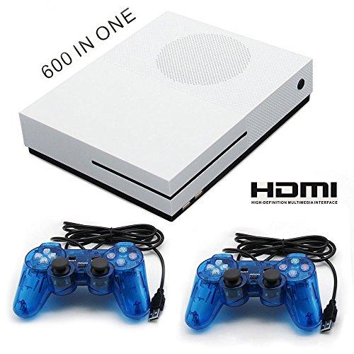 QUMOX HDMI Retro TV Spielkonsole 600 Spielen in 1 Klassisch Spiel Konsole + 2 Joystick (Tv-spiele)