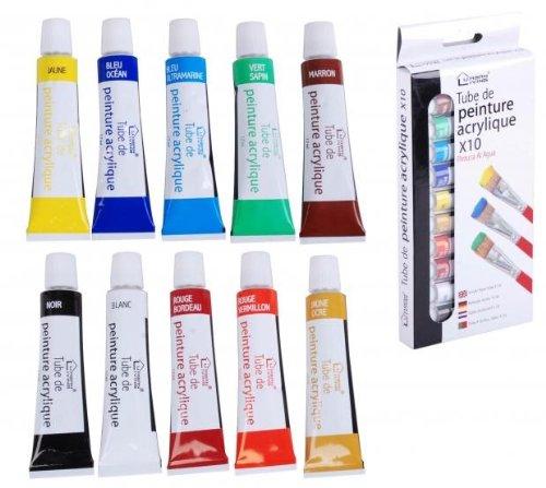 lot-de-10-tubes-10x12ml-peinture-acrylique-10-couleurs