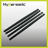 Hypersonic® HP6116 SCHWARZ Türschutz Stoßstangenschutz Rammschutz für die Autotür oder Stoßstange , selbstklebend , flexibel , 4 STÜCK im Set , Bumper Guard Door Guard