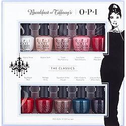 OPI Breakfast at Tiffanys Collection, Esmalte de uñas, color multicolor, pack de 10