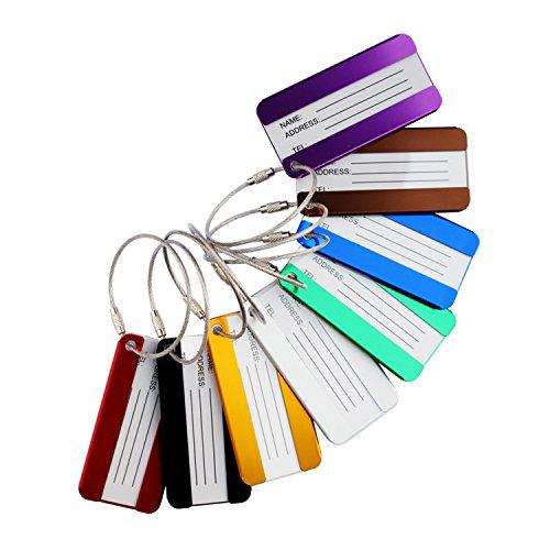 Etiquetas equipaje viaje metal aluminio Titular tarjeta