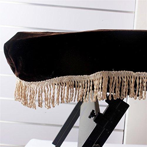 Sharplace Keyboard-Cover Klaviertaste Tastaturen Schmutz-Beweis Staub Schutzhülle Tastaturabdeckung Tuch für Keyboards 61 Tasten - Kaffee