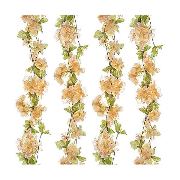 GL-Turelifes 1 Paquete de 7.22 pies/Pieza de Flores Artificiales de Cerezo para Colgar, arreglos de Flores Artificiales…