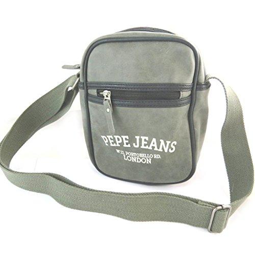 Pepe Jeans [N6067] - Sac bandoulière 'Pepe Jeans' gris vintage - 25x20x6 cm