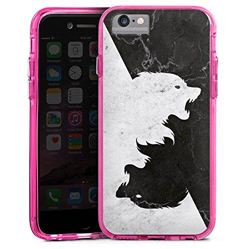Apple iPhone X Bumper Hülle Bumper Case Glitzer Hülle Game Of Thrones Wolf Got Bumper Case transparent pink