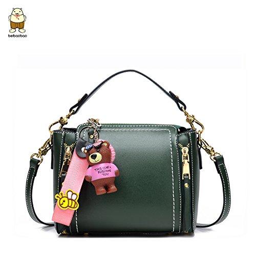501b41eebb986 Umhängetaschen Die neue Tasche Handtasche Bag Herbst koreanischen Süße Mini  Schulter diagonal Bucket Bag Green small