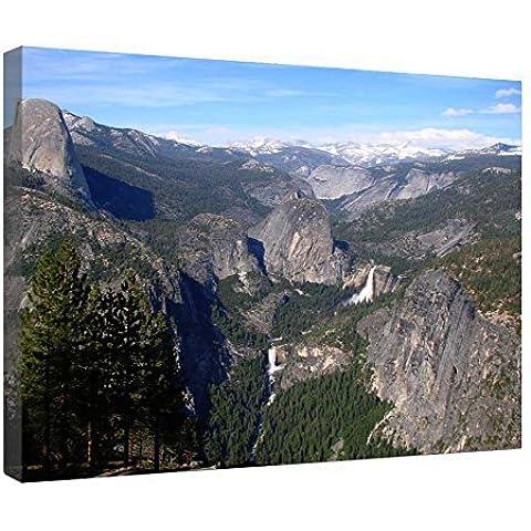 LeeQueen Las Impresiones Sobre Lona Arte de la Pared - Vernal y Caídas de Nevada - Parque Nacional de Yosemite - Antecedentes Consejo de Madera Estirada Abrigo de la Lona Listo Para Colgar Para el Hogar y la Decoración de la Oficina - 24