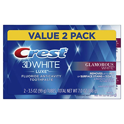 Crest Twin Pack 3D White Luxe Glamorous White Toothpaste