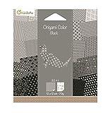 Avenue Mandarine - 42687O Papier pour Origami Collor de 20 Feuilles, Camaieu de Noir Blanc 12 X 12 Cm 70 G