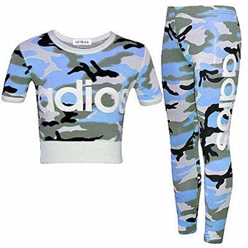 Ensemble 2 pièces avec leggings et Crop top, pour fille Guba Koricha Adios, Camouflage - Multicolore - 7-8 ans