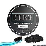Cocobae Teeth Whitening – Aktivkohle Zahnaufhellung Weiße Zähne–Kokosnuss Dental Zahnreinigung O. Fluorid–Bleiche Bleaching-Activated Charcoal Powder