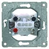 PEHA 00190711 Grundelement Wippschalter mit Steckklemmen für alle Unterputz-Programme 10 A 250 V, Kreuzschalter