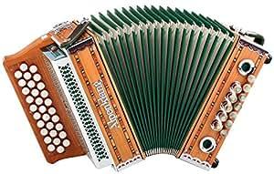 """Alpenklang Harmonica """"Mini"""" 3 rangées, B-Es-As en solide bois de cerisier"""