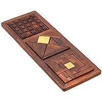 Giocattoli Unici, 3 In 1 In Legno Blocchi Puzzle Per