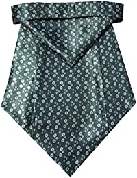 Riyasat - Self Design Black Color Micro Fiber Men,s Cravat with Pocket Square (C_0082)