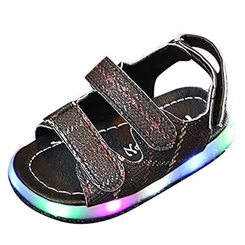 LILICAT_Schuhe Sommer Kinderschuhe Kinder LED Clogs Flash beleuchtete Nette Gartenschuhe Strand Sandalen Flache Schuhe Sommer Slip-On atmungsaktiv Slipper für Jungen/Mädchen