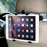 "Soporte tablet para reposacabezas de coche - Compatible con Apple iPad Air / Mini, Samsung Galaxy Tab, Kindle Fire, reproductor de DVD portátil, tabletas 7''-12"", AKKEE Soporte de tableta Coche"