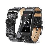 KingProst-Fitness Fitness Armband Uhr Smartwatch, Sport Uhr Smart Bracelet Wasserdicht Armbanduhr Schrittzähler Schlaftracker Aktivitätstracker Für Android und IOS (Schwarz)
