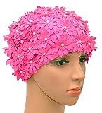 Medifier Bonnet de Bain Multicouche pétales de Fleurs Style rétro Bain Caps pour...