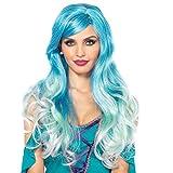 Leg Avenue A2778 - Meerjungfrau Schattiert Perücke, Damen Karneval Kostüm Fasching, Einheitsgröße, blau