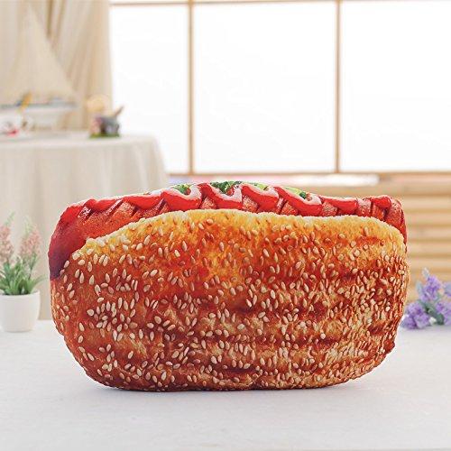 Klxeb cuscino grande divertente simulazione 3d del pane e biscotti al burro pizza cuscino cuscini cuscino lunga striscia,h