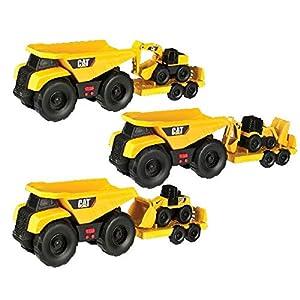 Toy State 34760 vehículo de Juguete - Vehículos de Juguete (Negro, Amarillo, Vehicle Set, 3 año(s), Niño, Dump Truck Pulling Backhoe, Dump Truck Pulling Excavator, Dump Truck Pulling Wheel Loader)