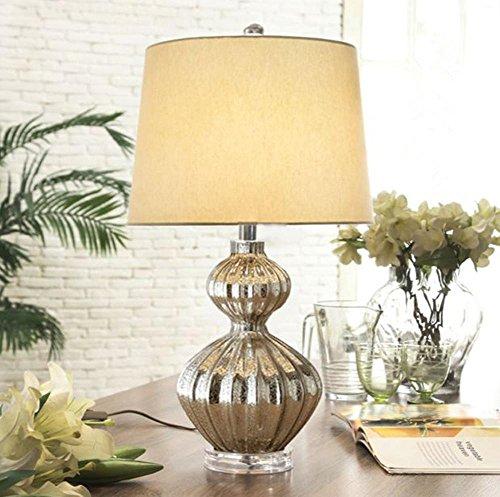 DLUF E27 zucca lampada da tavolo da letto Soggiorno comodino lampada moderna stile minimalista luci decorative creativi di cristallo di vetro ,