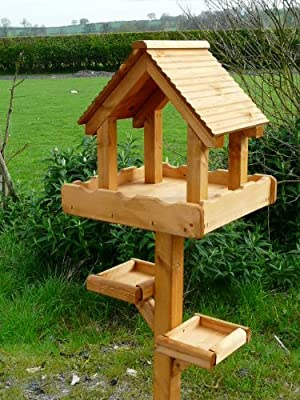 Triple Platform Bird Table by Riverside Woodcraft