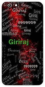 Giriraj (Lord Of Mountain ( Himalaya )) Name & Sign Printed All over customize & Personalized!! Protective back cover for your Smart Phone : Moto X-Play