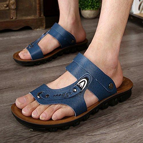 Xing Lin Sandales DÉté _ Chaussures Sandales En Cuir DÉté Nouvelle Microfibre Plage Chaussures Chaussures Hommes Marée Leather shoes code