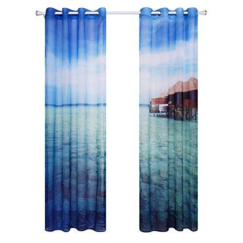 Bkph tendine trasparenti lenzuola decorative per soggiorno, d, 140x260cm