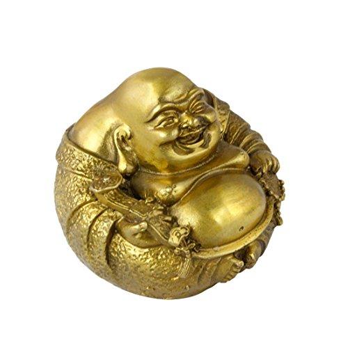 Begriff handgefertigt Gold Happy Maitreya Buddha Statue Messing dekorativem BS200 (Maitreya-statue)