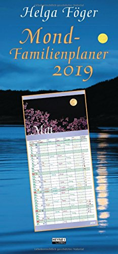 Mond-Familienplaner 2019: Wandkalender