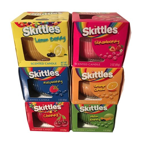 set-of-4-candles-skittles-scented-candle-lemon-orange-melon-strawberry-cherry-raspberry