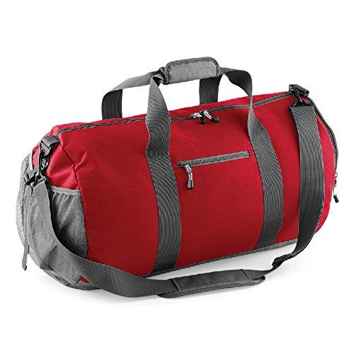 Athleisure kit Bag- Borsa in poliestere con tessuto impermeabile Rosso
