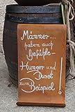 Edelrost Tafel Männer gewellt Spruch Geschenk Schild Garten Wanddeko Handarbeit