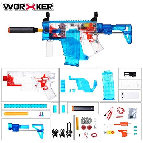 OviTop Worker Swordfish Blaster Full Automatisch Kit: Hauptteil + Schwungrad + Gewehrkolben + Zielfernrohr + Magazin + Griff + Vorderrohr (Flugbahn Kit)