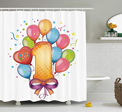3D Water Lily Art 78 Shower Curtain Waterproof Fiber Bathroom Windows Toilet