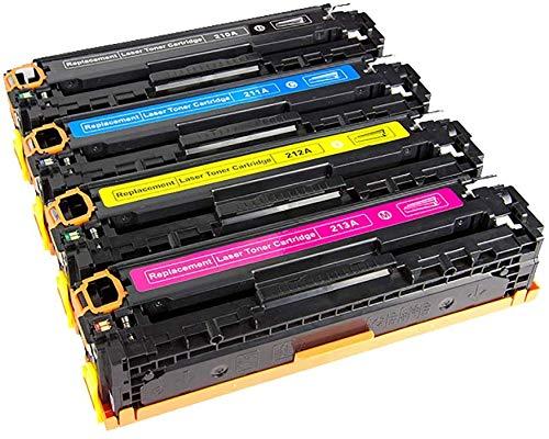 YXZQ Tonerkartusche, passend für HP CF210A CF211A CF212A CF213A Farbtonerkartusche, kompatibel mit HP Laserjet Pro 200 / Farb-MFP M276nw / M251nw (131A), 4-farbig