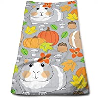 ewtretr Toallas De Mano, Cotton Fall Guinea Pigs Dish Towels,Oversized Kitchen Towels for