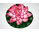 Schwimmende Kunstblume mit rot weiß farbiger Blüte, Durch. 17,5cm aus Schaumstoff - Kunstpflanze künstliche Blumen Kunstblumen Blumensträuße künstlich, Seidenblumen oder Blumen aus Plastik Kunststoff </p> --> großes Kunstblumen Sortiment