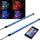 ubanner Full Kit RGB LED Strip Computer Beleuchtung über Magnet mit 24 Schlüssel-Fernbedienung Controller für Desktop Computer Fall Mid Tower Full Tower (5050 SMD 2 18LEDs 30 cm, R Serie)...