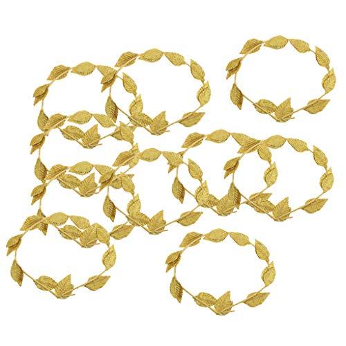 e Griechische Göttin Blattgold Lorbeerkranz Stirnband Strand Hochzeitsgeschenke ()
