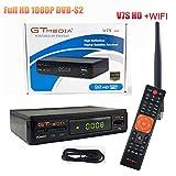 GTMEDIA V7S HD DVB-S2 Receptor de satélite Freesat V7 HD Mejora con USB WiFi Antena FTA 1080p Full...